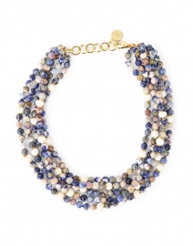 Blue Sodalite and Bone Multistrand Necklace