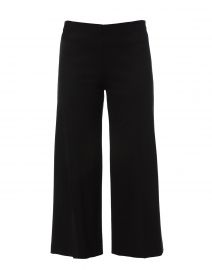 Black Compact Knit Wide Leg Pant
