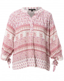 Pink Printed Viscose Top
