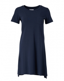 Elinor Navy Bamboo Cotton T-Shirt Dress