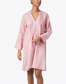 Pomegranate - Orchid Pintuck Linen Dress