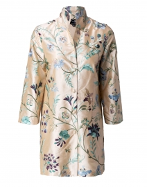 Rita Champagne English Garden Embroidered Silk Jacket
