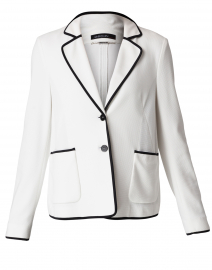 White Knit Blazer Jacket
