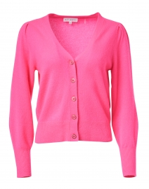 Electric Magenta Cashmere Cardigan