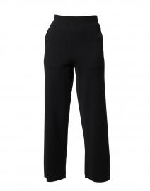 Black Wool Blend Pull-On Pant