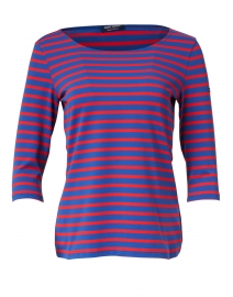 Garde Cote Blue and Red Striped Jersey Top