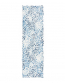 Kinross - Blue Animal Printed Cashmere Scarf