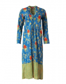 Radha Blue Floral Cotton Kaftan