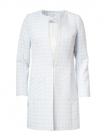 Alice Sky Blue and White Jacquard Long Jacket