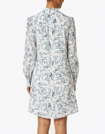 Jane - Millicent Pale Blue and White Floral Silk Dress