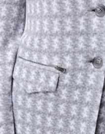 Amina Rubinacci - Dafne Grey and White Houndstooth Knit Blazer