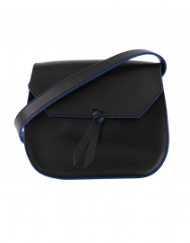 Mini Black Leather Saddle Bag