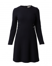 Jane Navy Dress with Button Detail