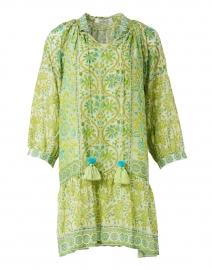 Citrus Green Floral Cotton Dress