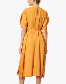 BOSS Hugo Boss - Dibanty Orange Ruched Midi Dress
