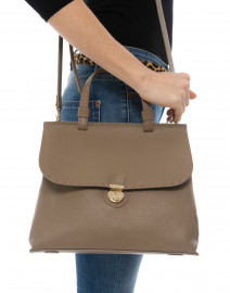 Lucque - Orleans Medium Beige Satchel Bag