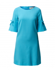 Irinna Turquoise Wool Crepe Tunic Dress