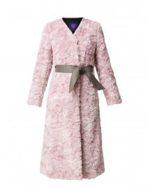 Victoire Rose Pink Faux Fur Coat