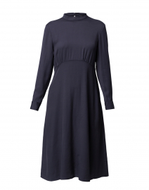 Navy Stretch Viscose Dress