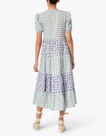 Ro's Garden - Daphne Light Blue Phoenix Print Shirt Dress