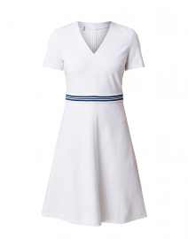Dukati White Dress with Blue Belt