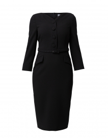 Peggy Black Fitted Dress