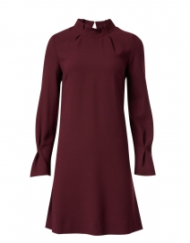 Elodie Plum Wool Crepe Tunic Dress