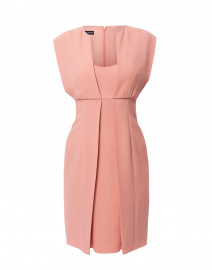 Blush Pink Pleat Front Cady Dress