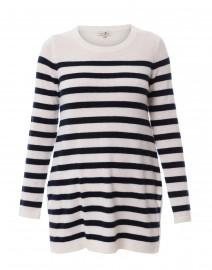 Ecru and Navy Striped Cashmere Sweater