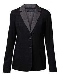 Rozella Black and Grey Dual Weave Wool Blazer