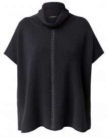 Charcoal Grey Wool Silk Cashmere Knit Top
