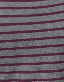 Blue - Grey and Bordeaux Fine Stripe Boatneck Sweater