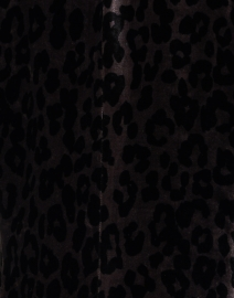 Marc Cain - Purple and Black Animal Printed Velvet Blazer