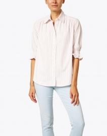 Finley - Sirena White Multi Stripe Cotton Shirt