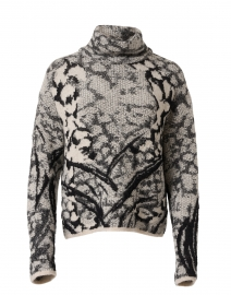 Black and White Patterned Wool Sweater