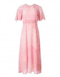 Elowen Cream and Pink Animal Print Silk Dress