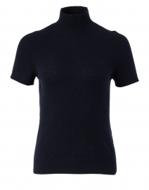 Navy Knit Cashmere Top