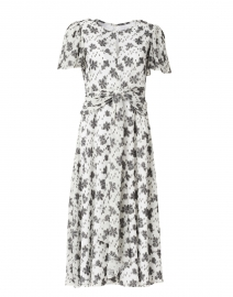 Alita Black and White Floral Print Dress