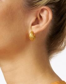 Dean Davidson - Gold Weave Huggie Hoop Earring