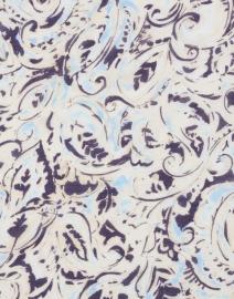 Leggiadro - Blue Paisley Printed Modal Cashmere Scarf