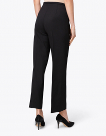 Piazza Sempione - Amandine Black Stretch Wool Wide Leg Ankle Pant