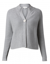 Grey Garter Stitch Cotton Cardigan
