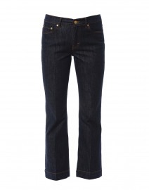 Dark Blue Denim Flared Jean