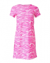 Ella Hot Pink and White Zebra Printed Dress
