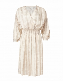 Sera Beige Shibori Printed Dress