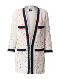 White Speckled Red and Black Tweed Jacket