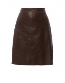 Tangeri Dark Brown Leather Skirt