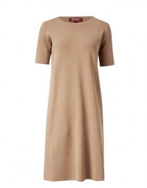 Paggi Camel Knit Viscose Dress
