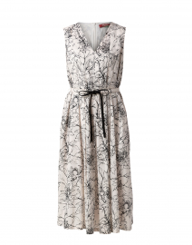 Midas White and Black Floral Cotton Dress