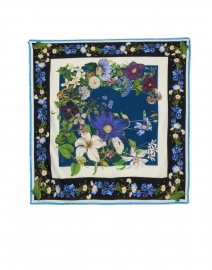 St. Piece - Oriah Blue Floral Wool and Cashmere Scarf